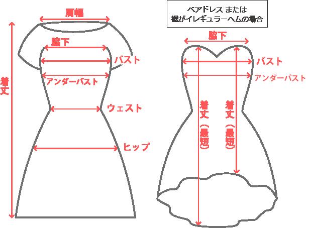 商品サイズの測り方