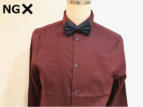 派手すぎる柄、赤・黒のYシャツ